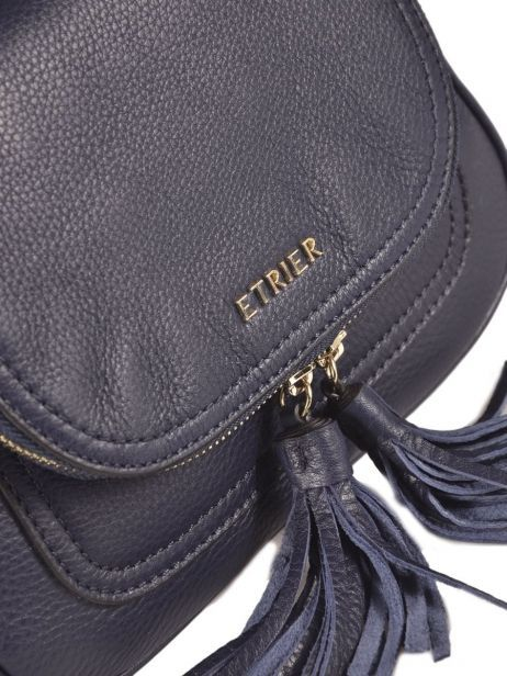 Shoulder Bag Paris Leather Etrier Black paris EPAR04 other view 1