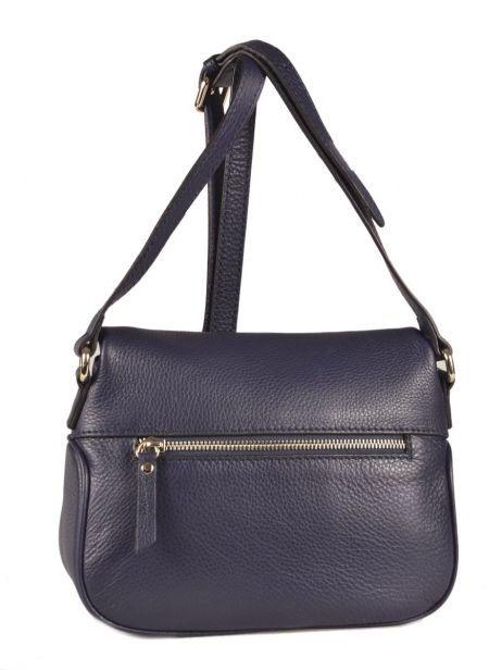 Shoulder Bag Paris Leather Etrier Blue paris EPAR04 other view 4