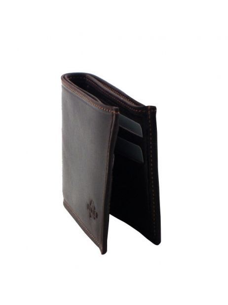 Wallet Leather Etrier Brown oil - 00790102 other view 1