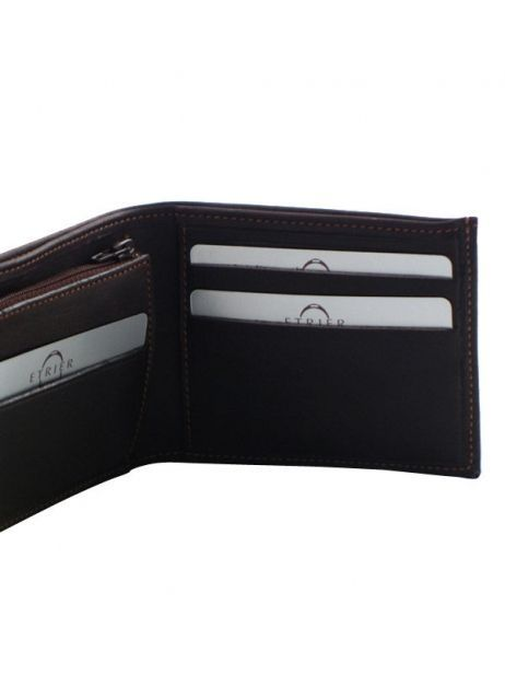 Wallet Leather Etrier Brown oil - 00790102 other view 3