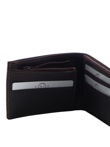Wallet Leather Etrier Brown oil - 00790102 other view 4