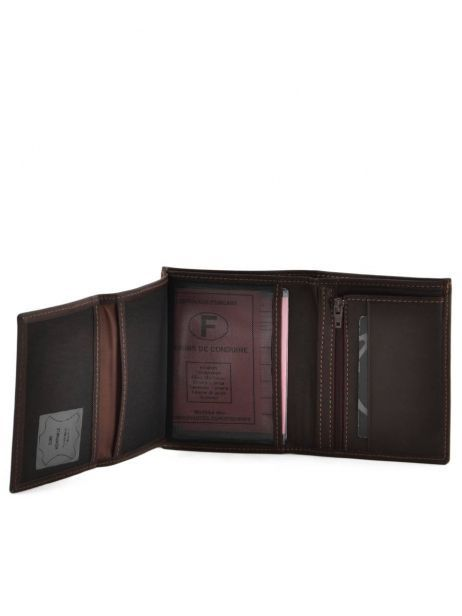 Wallet Leather Etrier Brown oil 790241 other view 4