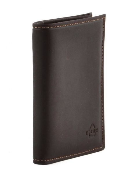 Wallet Leather Etrier Brown oil 790241 other view 1
