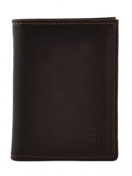 Wallet Leather Etrier Brown oil 790241