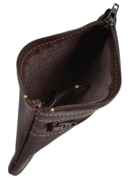 Key Holder Leather Etrier Brown oil 790612 other view 3