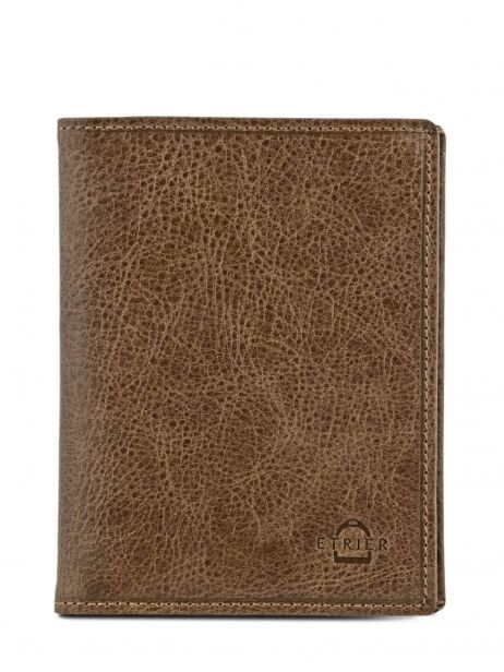 Card Holder Leather Etrier Brown antik 708023