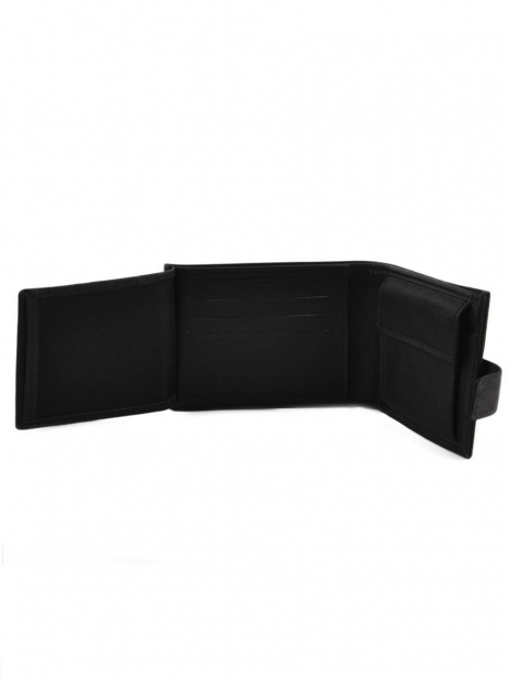 Wallet Leather Etrier Black oil 790120 other view 4