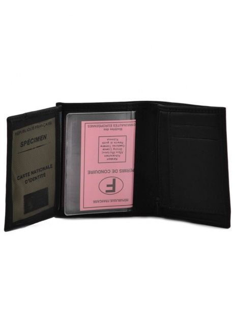 Wallet Leather Etrier Black oil 790145 other view 4