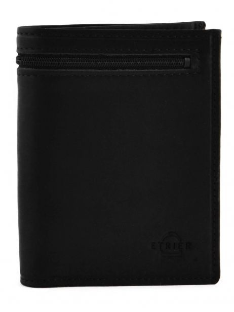 Wallet Leather Etrier Black oil 790145