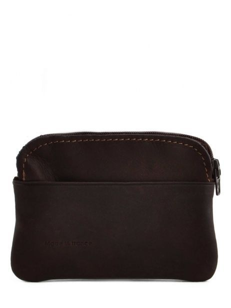 Purse Leather Etrier Brown oil 790339 other view 2