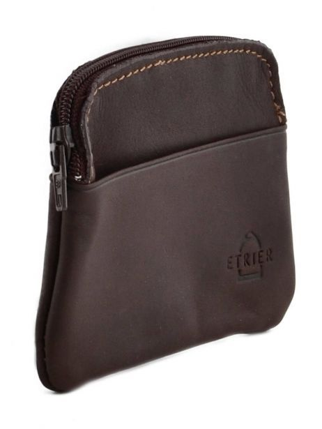 Purse Leather Etrier Brown oil 790339 other view 1