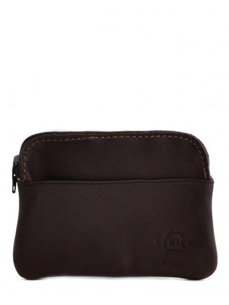Purse Leather Etrier Brown oil 790339
