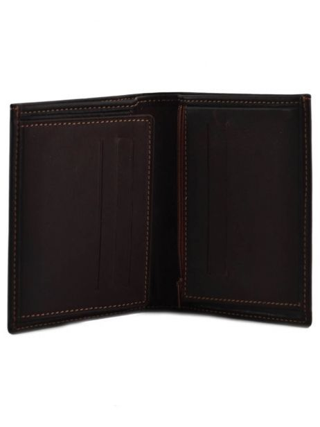 Wallet Leather Etrier Brown oil 790624 other view 3