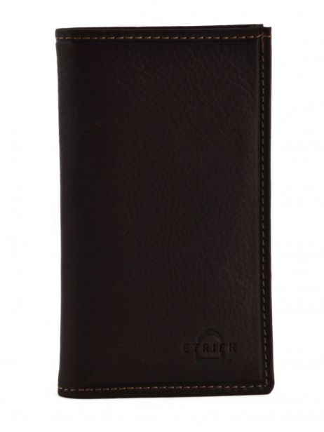 Card Holder Leather Etrier Brown oil 790006