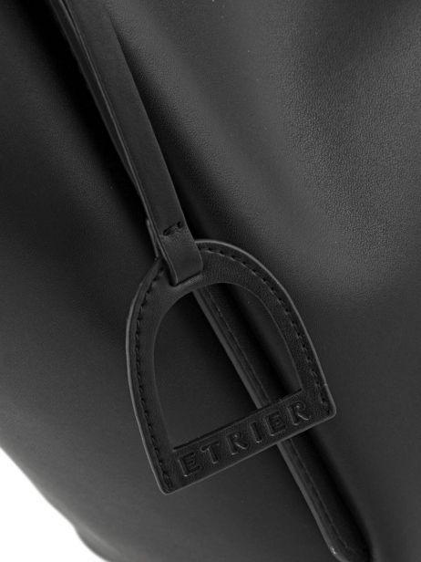 Shoulder Bag Kyo Leather Etrier Black kyo EKY602 other view 2