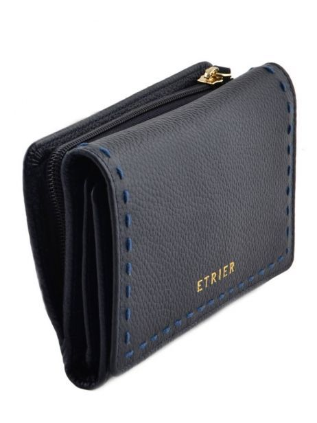 Wallet Leather Etrier Blue tradition EHER905 other view 1