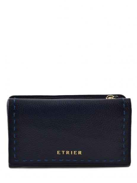 Wallet Leather Etrier Blue tradition EHER905