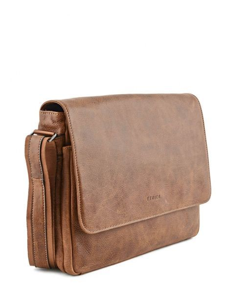 Messenger Bag 1 Compartment Etrier Brown spider S83606 other view 4