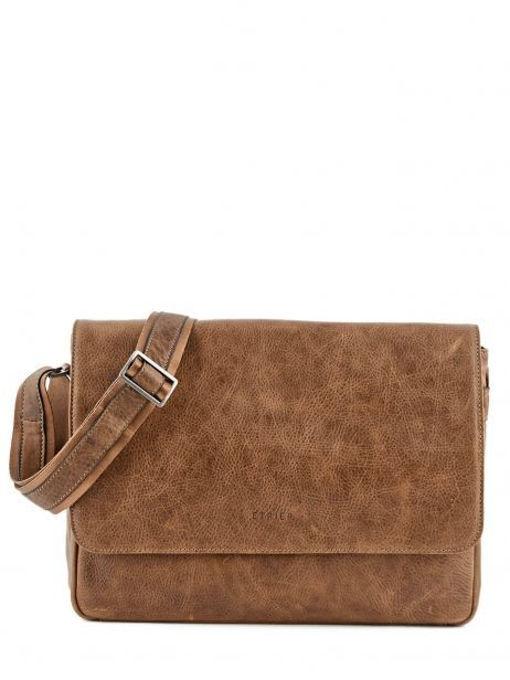 Messenger Bag 1 Compartment Etrier Brown spider S83606