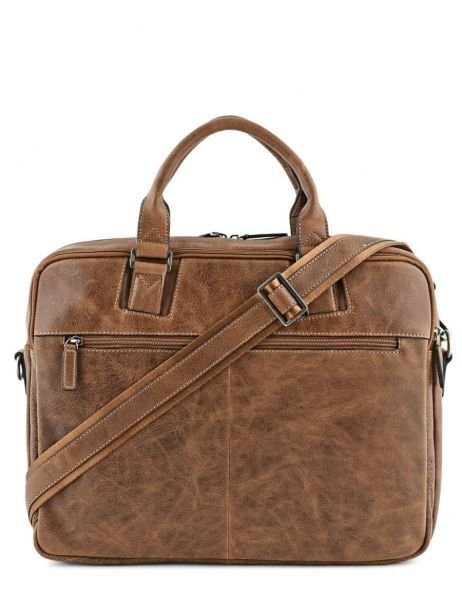 Briefcase 2 Compartments Etrier Brown spider S83608 other view 5