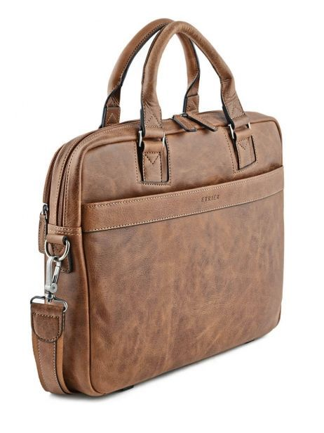 Briefcase 2 Compartments Etrier Brown spider S83608 other view 4