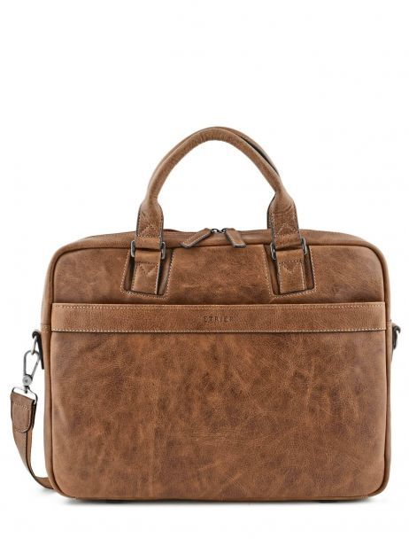 Briefcase 2 Compartments Etrier Brown spider S83608