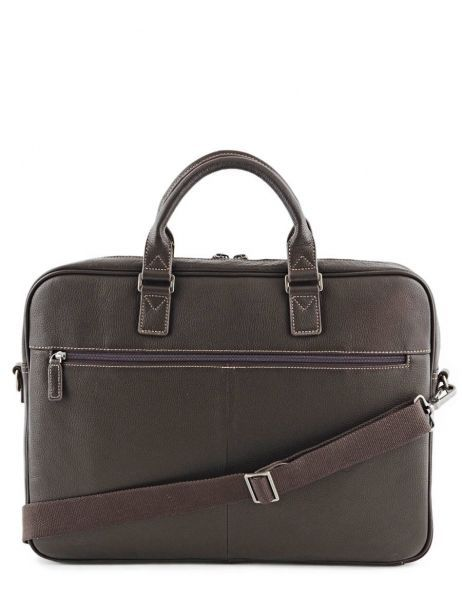 Briefcase 1 Compartment + 17'' Pc Etrier Brown flandres 69356 other view 5
