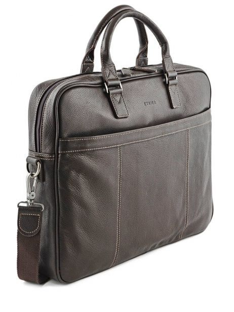 Briefcase 1 Compartment + 17'' Pc Etrier Brown flandres 69356 other view 4