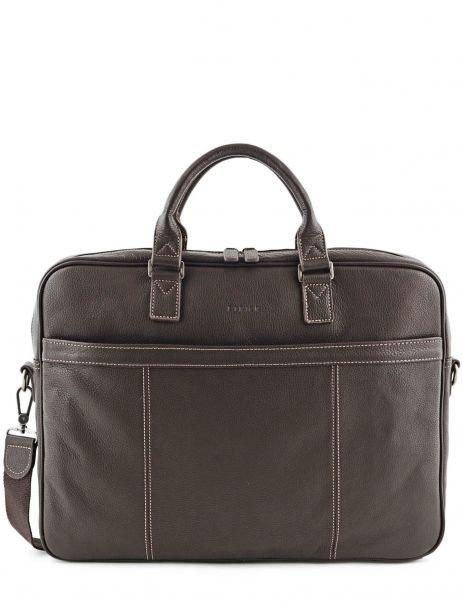 Briefcase 1 Compartment + 17'' Pc Etrier Brown flandres 69356