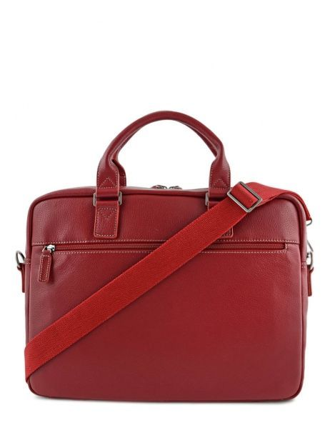 Briefcase 1 Compartment + 15'' Pc Etrier Red flandres 69357 other view 5