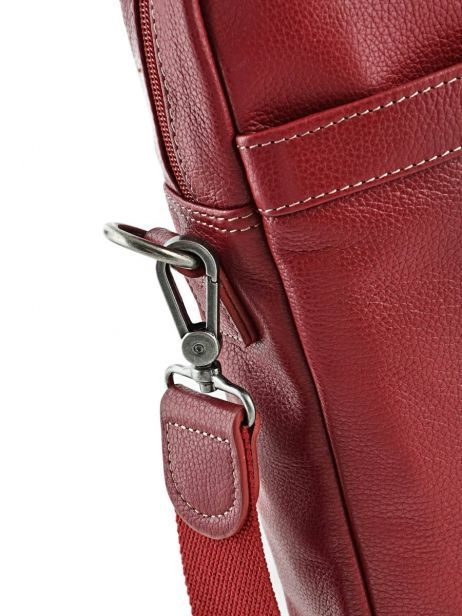 Briefcase 1 Compartment + 15'' Pc Etrier Red flandres 69357 other view 2