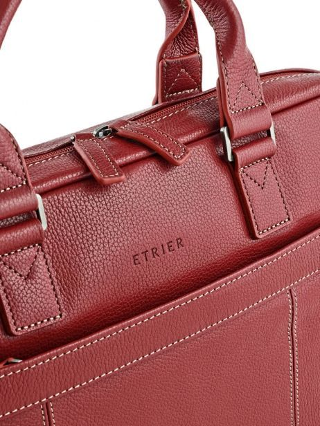 Briefcase 1 Compartment + 15'' Pc Etrier Red flandres 69357 other view 1