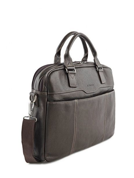 Briefcase 2 Compartments + 15'' Pc Etrier Brown flandres 69358 other view 4