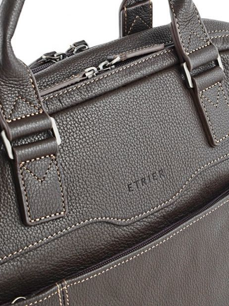 Briefcase 2 Compartments + 15'' Pc Etrier Brown flandres 69358 other view 1