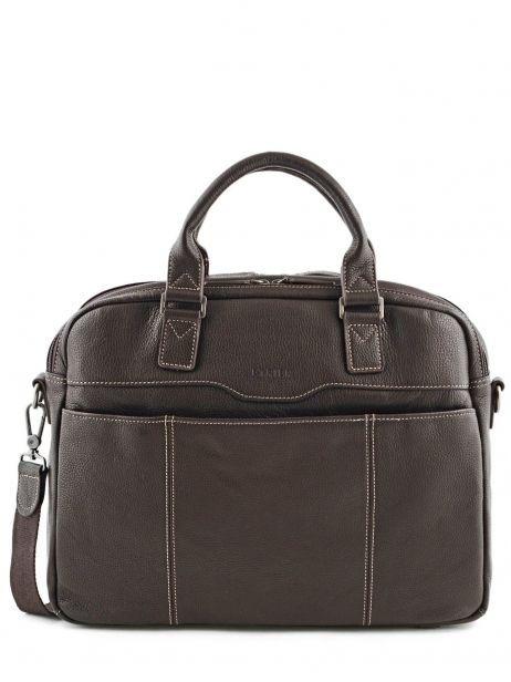 Briefcase 2 Compartments + 15'' Pc Etrier Brown flandres 69358