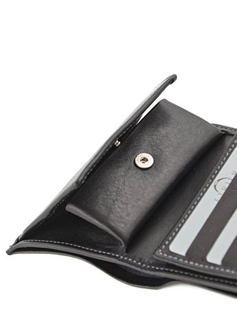 Wallet Leather Etrier Black caro E33133 other view 4