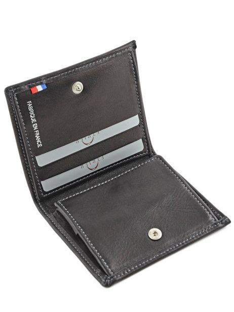 Wallet Leather Etrier Black caro E33133 other view 3