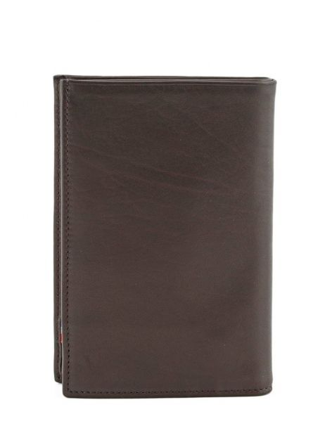 Wallet Leather Etrier Brown caro E33265 other view 2