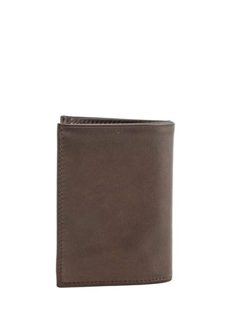 Wallet Leather Etrier Brown caro E33937 other view 2