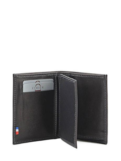 Wallet Leather Etrier Black caro E33937 other view 3