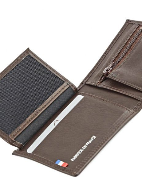 Wallet Leather Etrier Brown caro E33938 other view 4