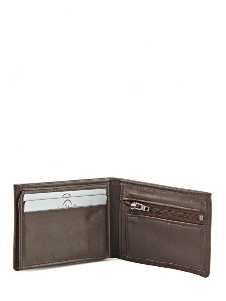 Wallet Leather Etrier Brown caro E33938 other view 3