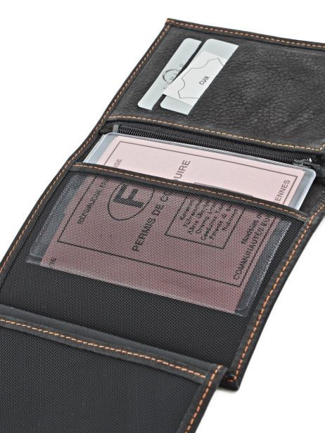 Wallet Leather Etrier Black nubuck E96465 other view 4