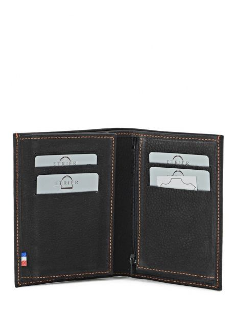 Wallet Leather Etrier Black nubuck E96465 other view 3