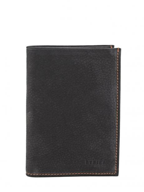 Wallet Leather Etrier Black nubuck E96465