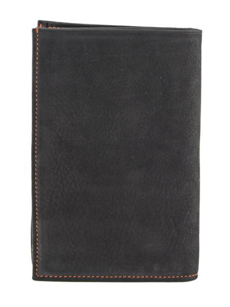 Wallet Leather Etrier Black nubuck E96260 other view 2