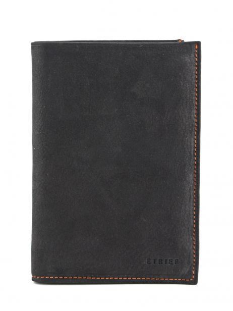 Wallet Leather Etrier Black nubuck E96260