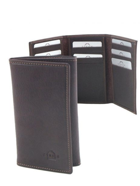 Card Holder Leather Etrier Brown oil 790930