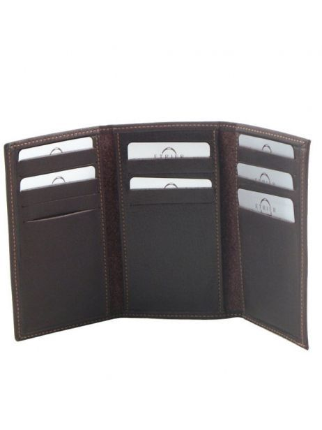 Card Holder Leather Etrier Brown oil 790930 other view 2