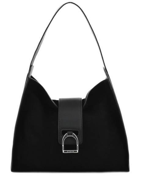 Hobo Bag Caleche Leather Etrier Black caleche ECAL006B